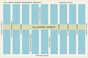 Fillmore Street Map.